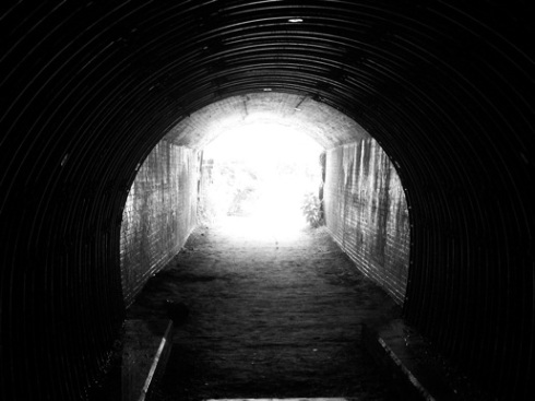 A light at the end of a tunnel - or is it an oncoming train?