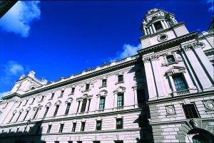 A view of HM Treasury